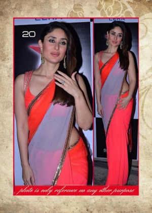Bollywood Fency Replica Kareena Kapoor Peach Bember Saree MSM-20