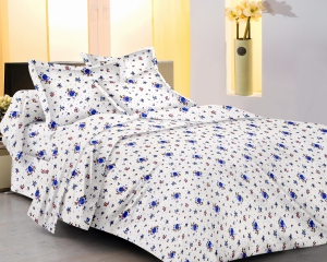 meSleep 100 Percent Cotton Yellow Double Bed sheet set 913-A