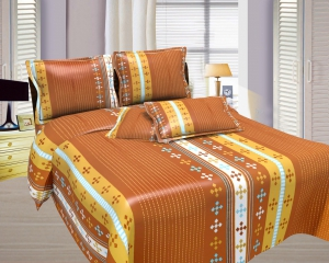 Bombay Dyeing Misty Double Bed Sheet Set  Misty-01