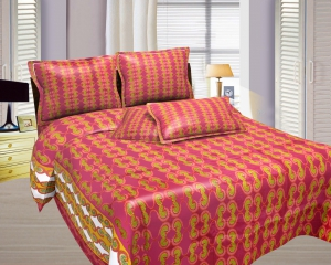 Bombay Dyeing Misty Double Bed Sheet Set  Misty-03