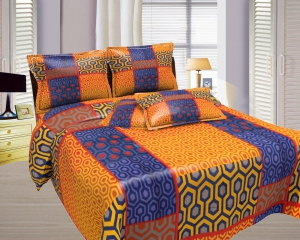 Bombay Dyeing Misty Double Bed Sheet Set  Misty-06