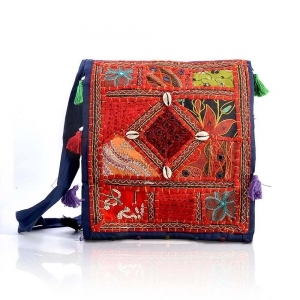 Rajasthani Exclusive Mirror Work Art Traditional Style Hand Bag DLI4BAG112