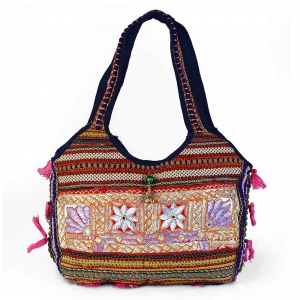 Stylish Kutch Hand Embroidered Beautiful Lace Work Shoulder Bag DLI4BAG150
