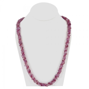 Modern Design Pink Amethyst And Garnets Combination Mala Style Necklace DLI5SNS205