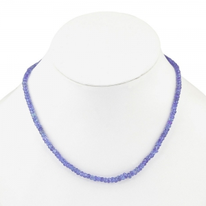 Exclusive 50 Carats Semiprecious Royal Blue Tanzanite Stones Necklace DLI5SNS211