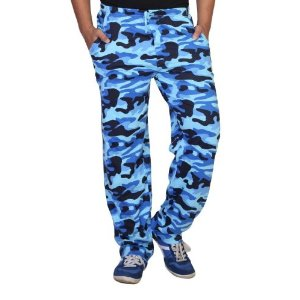 Clifton Men Army Printed Track Pants - Blue