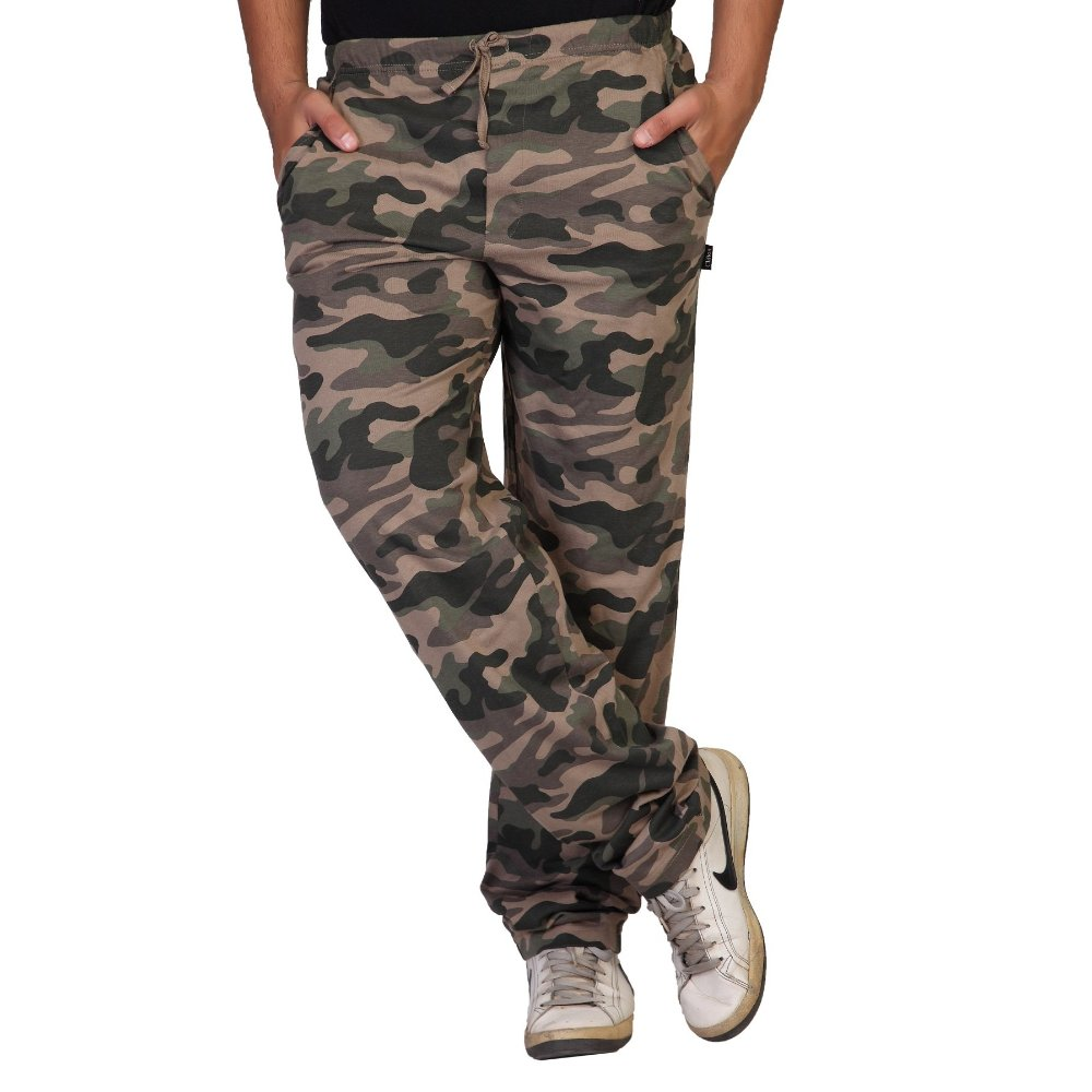 Clifton Men Army Printed Track Pants - Black