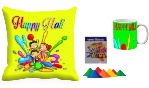 Holi Cushion Cover Mug-Combo hl03-m5