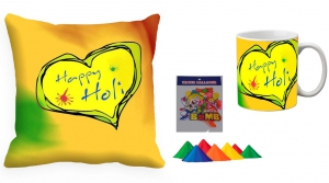 Holi Cushion Cover Mug-Combo hl04-m4