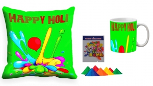 Holi Cushion Cover Mug-Combo hl05-m5