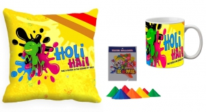 Holi Cushion Cover Mug-Combo hl06-m6