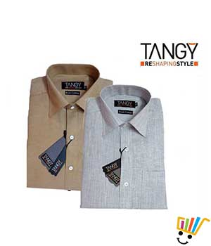 Tangy Pack of 2 Regular Fit Full Shirts TFSRF2