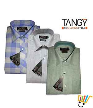 Tangy Pack of 3 Regular Fit Full Shirts TFSRF3