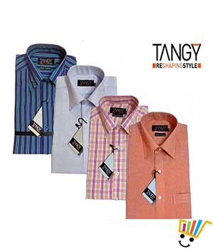 Tangy Pack of 4 Regular Fit Full Shirts TFSRF4