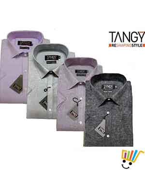Tangy Pack of 4 Regular Fit Half Shirts THSRF4