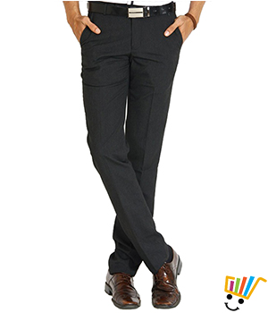 White Tone Mens Trousers WTRDKGRY1004