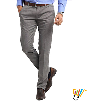 White Tone Mens Trousers WTRLTGRY1003