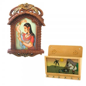 Buy Bani Thani Wooden Photo Frame And Get Key Magazine Holder Free DL4COMB123