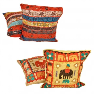 Buy Patchwork Cushion Cover Set and Get one Cushion Cover Set Free  DL4COMB246