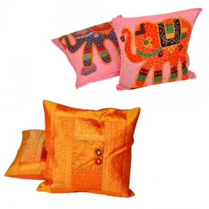 Buy Embroidered cushion Cover Set and Get Trendy Cushion Cover Set Free DL4COMB248