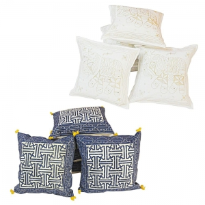 Pair of 5 Piece Set Rajasthani Designer Printed Cushion Covers Combo DL4COMB304