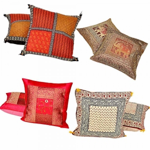 Rajasthani Design Four Sets of 2 Piece Stylish Cushion Covers Combo  DL4COMB308