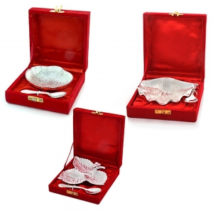 Oval Shape, 3 Leaves And Pearl Oyster Shape Mouth Freshner Bowls Combo DL4COMB363