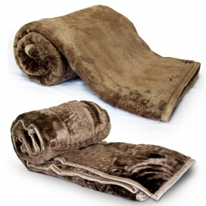 Stylish Embossed Design Double and Single Bed Super Soft Mink Blanket DL4COMB407