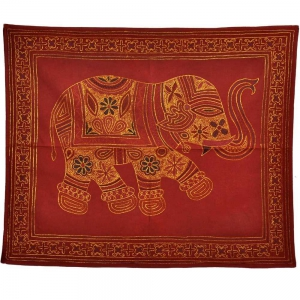 Rajasthani Craftmanship Single Elephant Figure Embroidery WallHanging DLI3WHG510