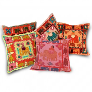 Exclusive Elephant Designer Patchwork Graceful Cushion Covers Set DLI4CUS422