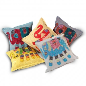 Hand Embroidered Designer Cushion Cover Set Cotton Cushion Cover DLI4CUS423