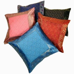 Jacquard Multi-Colour Cushion Cover 5 Pc Set Jaipuri Cushion Cover DLI4CUS442