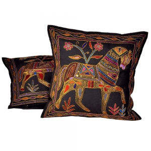 Aari Zari Embroidery Cushion Cover 2 Pc Set Cotton Cushion Cover DLI4CUS810