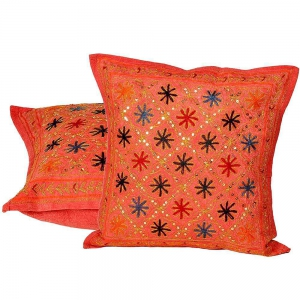 Ethnic Hand Embroidered Cushion Cover 2 Pc Set Ethnic Cushion cover DLI4CUS838