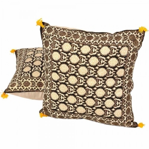 Elegant Jaipuri Pure Cotton Cushion Cover Pair Jaipuri Cushion Cover DLI4CUS844