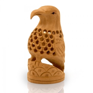 Decorative Carved Wooden Eagle Home Decor Handcrafted Gift Item DLI4HCF150
