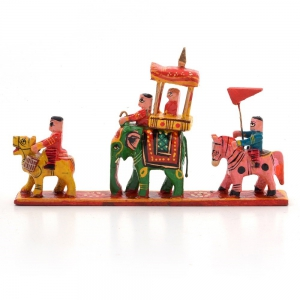 Royal Maharaja Procession Wood Handicraft Item Wooden Handicraft  DLI4HCF204