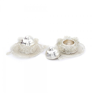Butterfly Shaped Designer Silver Polish Decorative Sindoor Box Pair DLI4HCF230