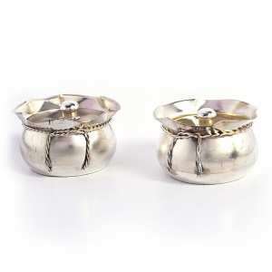Silver Polished Smart Looking Mouth Freshener Handcrafted Box Pair DLI4HCF236