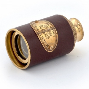 Antique Handcraft Functional Real Usable Telescope in Brass And Leather DLI4HCF269