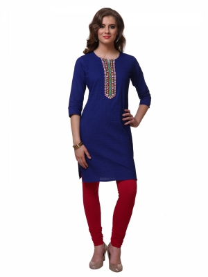 Varanga R.Blue Color Womens Casual Kurta KFVARSS151061