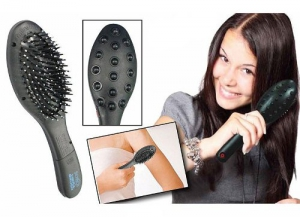 Superdeals Magnetic Hair Brush With Electronic Head Massager SD084