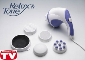 Superdeals Relax And Tone Body Massager 360 Degree Spin Hand Held Body Massager SD112