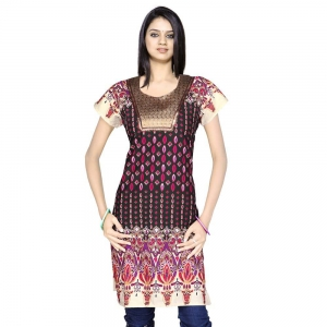 Exclusive Designer Brocade Black Cotton Kurti Rajasthani Kurti DLI4KUR122