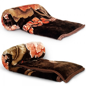 Super Soft Luxurious Rich Look Single Bed Designer Warm Blanket Pair  DLI4SBK1052