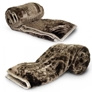 Exclusive Design Soft Touch Single Bed Embossed Warm Blankets Pair DLI4SBK1102