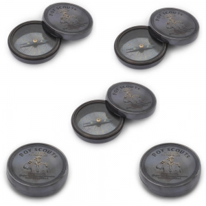 Wholesale Lot of 5 Stylish Boy Scout Pure Brass Direction Compasses DL5LOT515