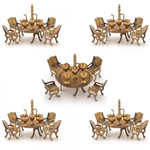 Wholesale Lot of 5 Unique Design Dining Table Chair Maharaja Sets DL5LOT519