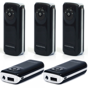 Wholesale Lot of 5 High Capacity Portable Power Bank For Smartphones DL5LOT537