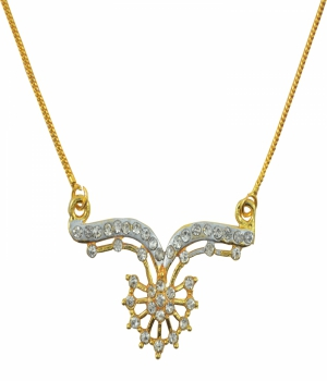 Aakshi Dual Tone Diamond  Necklace AKS_NK_CFD